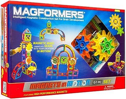 Magnetic Building Blocks Set Ferris Wheel Car Scooter 120 Pcs Fits Magformer