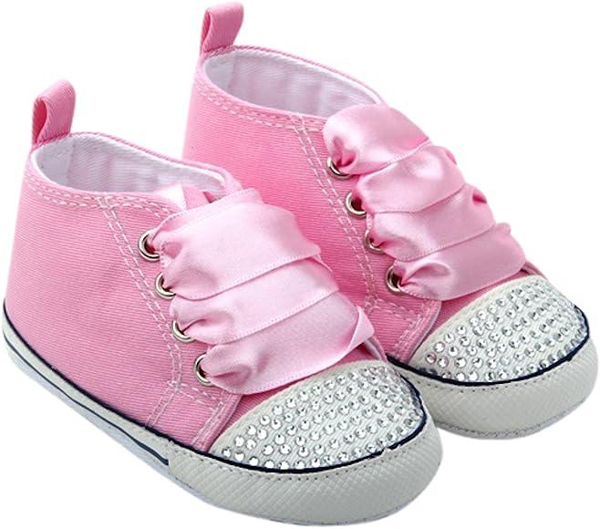 Unique Baby Baby-Girl Canvas Sneaker