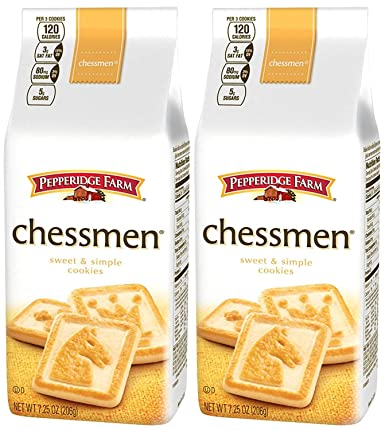 Pepperidge Farm Butter Chessmen Cookies 7 25 Oz 2 Pack Amazon Com Grocery Gourmet Food