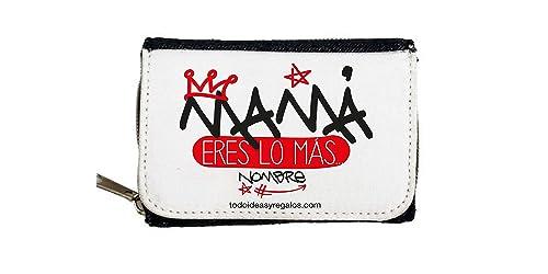 Monedero Personalizados TODOIDEAS Mama Eres LO MÁS: Amazon ...