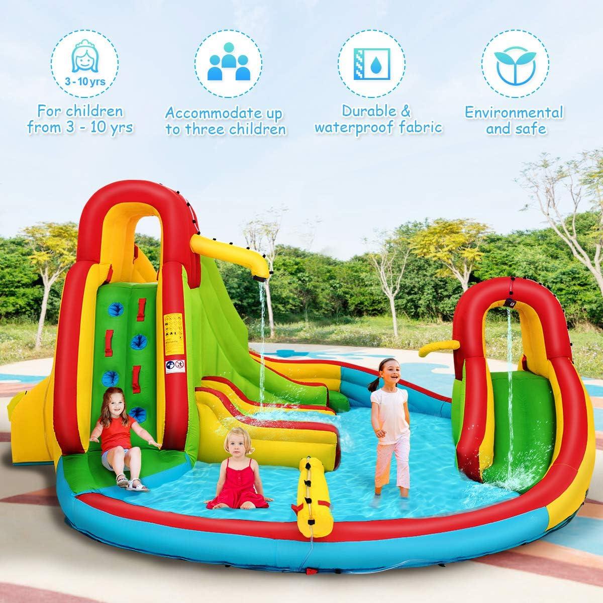 Amazon.com: Costzon - Castillo inflable de tobogán de agua ...