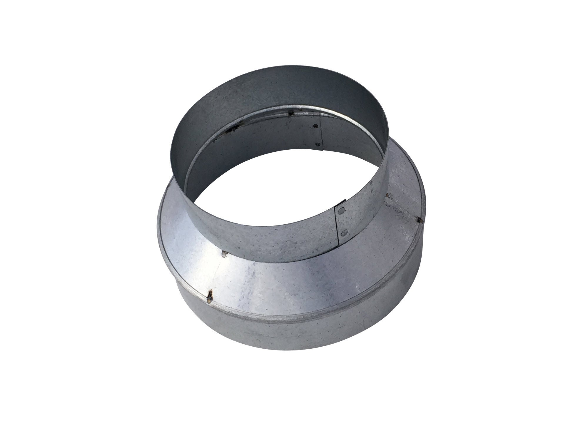 8x6 Inch Tapered Reducer Galvanized Steel - Vent Works