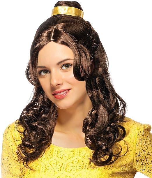Amazon.com: Belle disfraz peluca Belle peluca para mujer ...