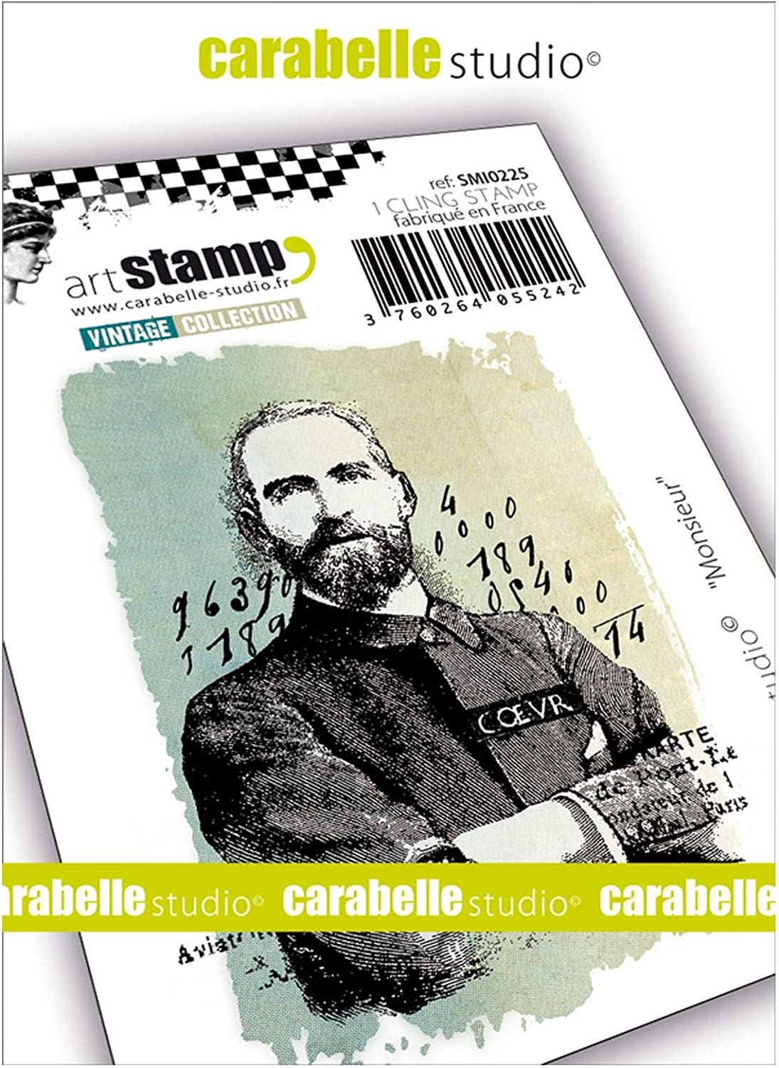 One Size Multicolored CARABELLE STUDIO Cling Stamp Gentleman
