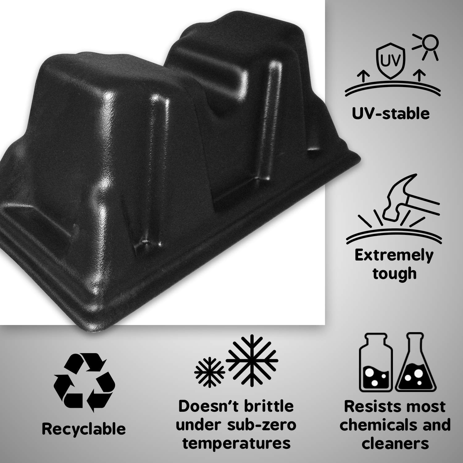 Pontoon Storage Blocks Perfect for Winter Storage UV Resistant and Extremely Durable Polyethylene Securely Stack on Cinder Blocks Made in USA Unique Design