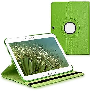 kwmobile Funda compatible con Samsung Galaxy Tab 3 10.1 P5200/P5210 - Carcasa de cuero sintético para tablet en verde