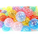 PowerTRC Play Balls Non-Toxic Phthalate Free Crush Proof Non-Recycled,Pack of 100, 10 Colors
