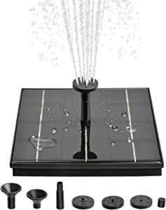 Solar Fountain Pump, 4W Free Standing Bird Bath Fountain Water Pump, Outdoor Floating Fountain Pump Kit for Garden, Pool, Pond, Patio Ideal Decoration