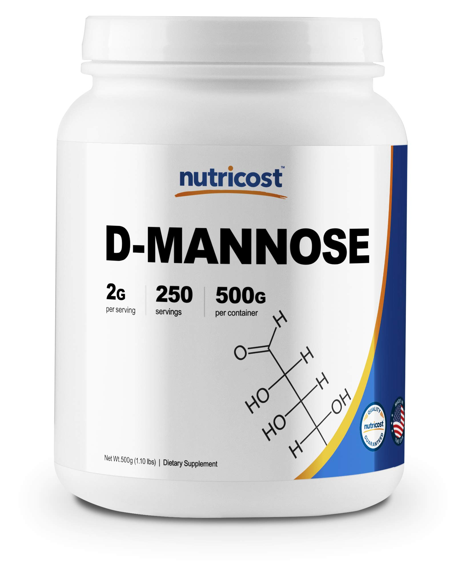 Nutricost D-Mannose Powder 500 GMS, 2g Serving, Non-GMO, Gluten Free by Nutricost