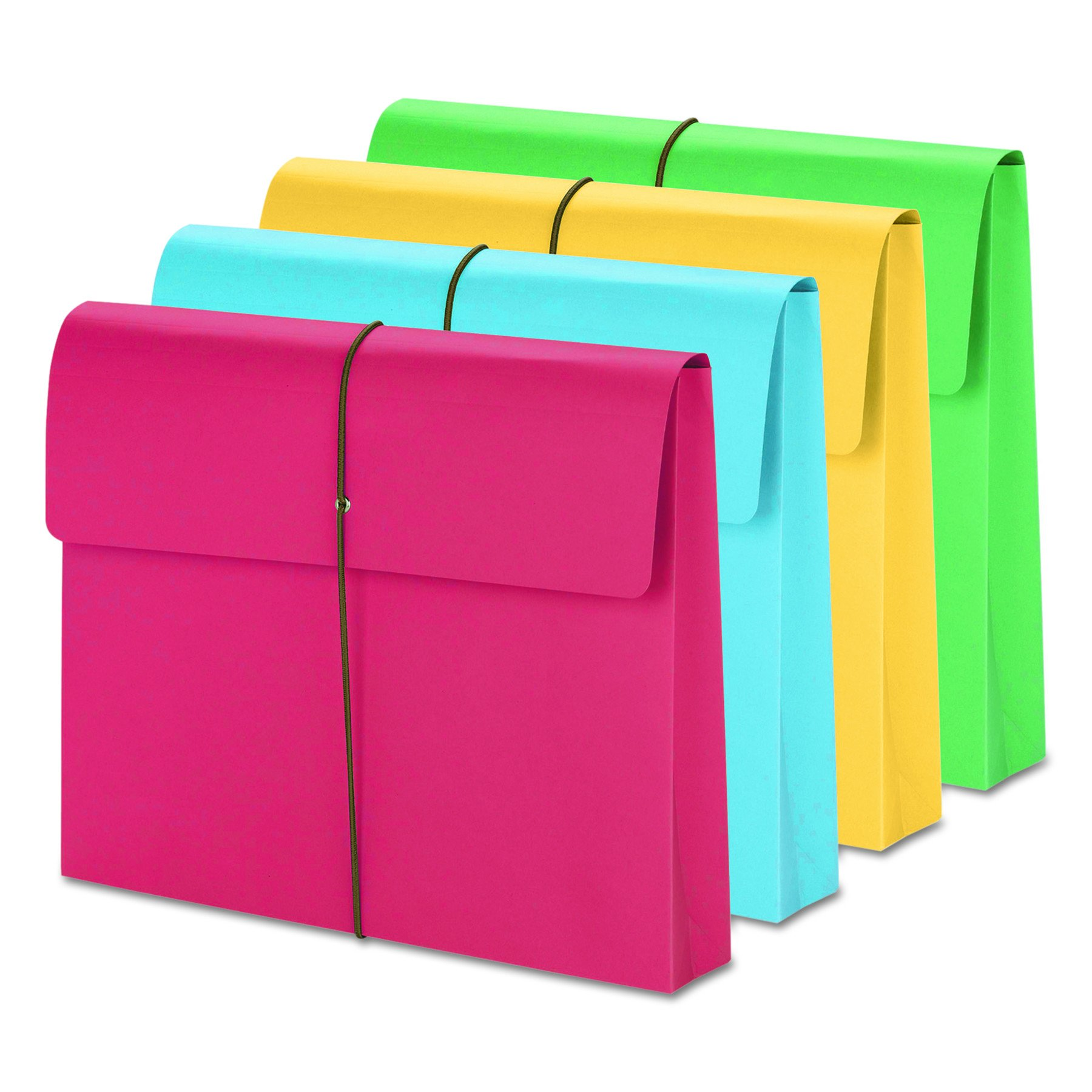 Smead Expanding File Wallet with  Closure, 2'' Expansion,  Closure, Letter Size, Assorted Colors, 50 per Box (77251) by Smead