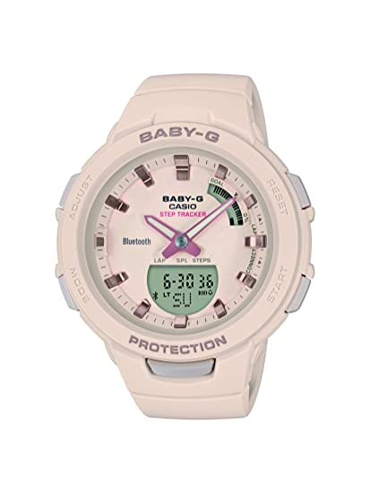 Casio Reloj Analógico-Digital para Mujer de Cuarzo con Correa en Resina BSA-B100