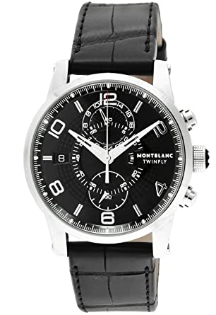 8e137a8da1 [モンブラン]MONTBLANC 腕時計 TIME WALKER ブラック文字盤 自動巻き 105077 メンズ 【並行