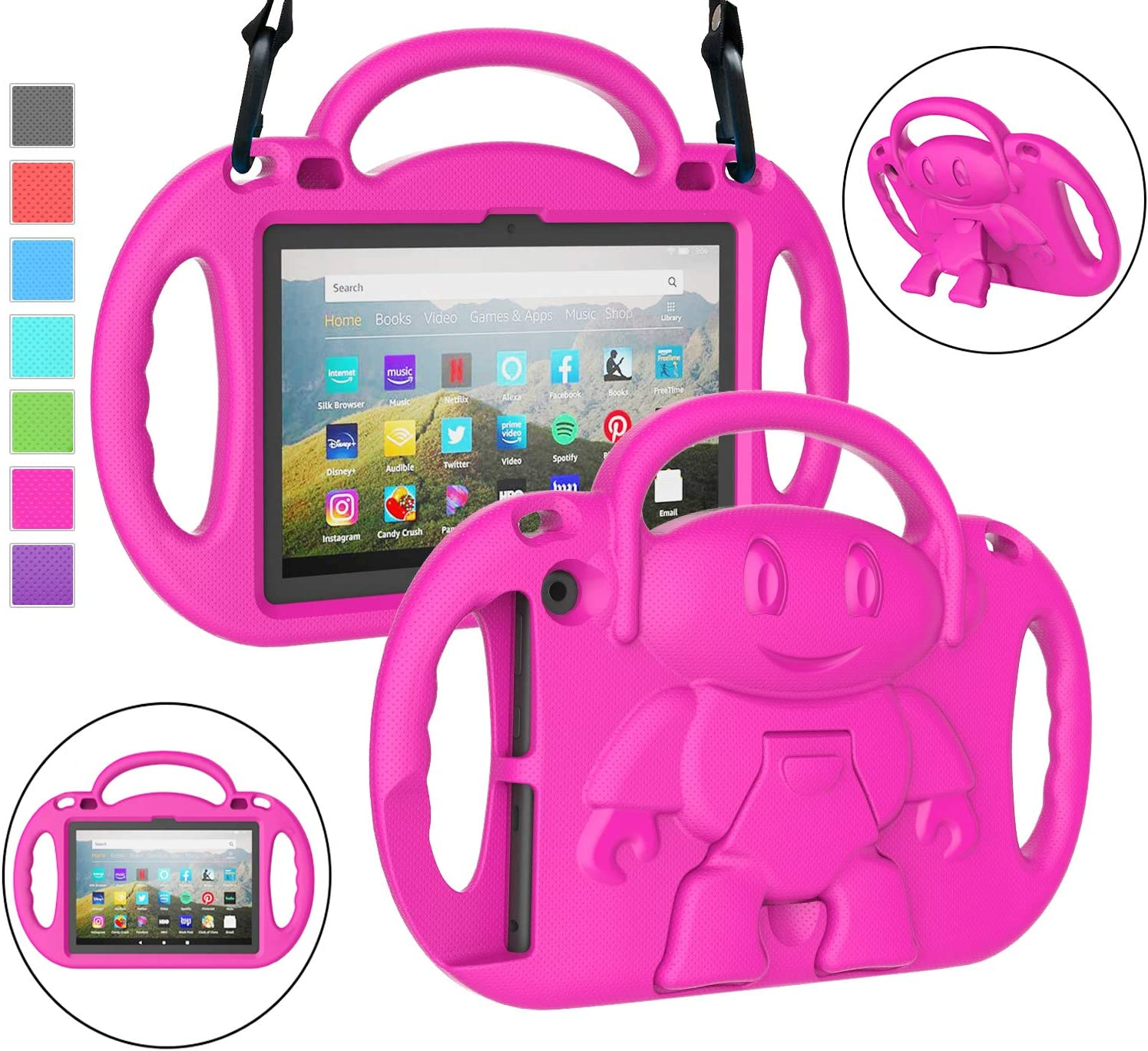 Funda rosa para Kindle Fire HD 8 y 8 plus 10° gen 2020
