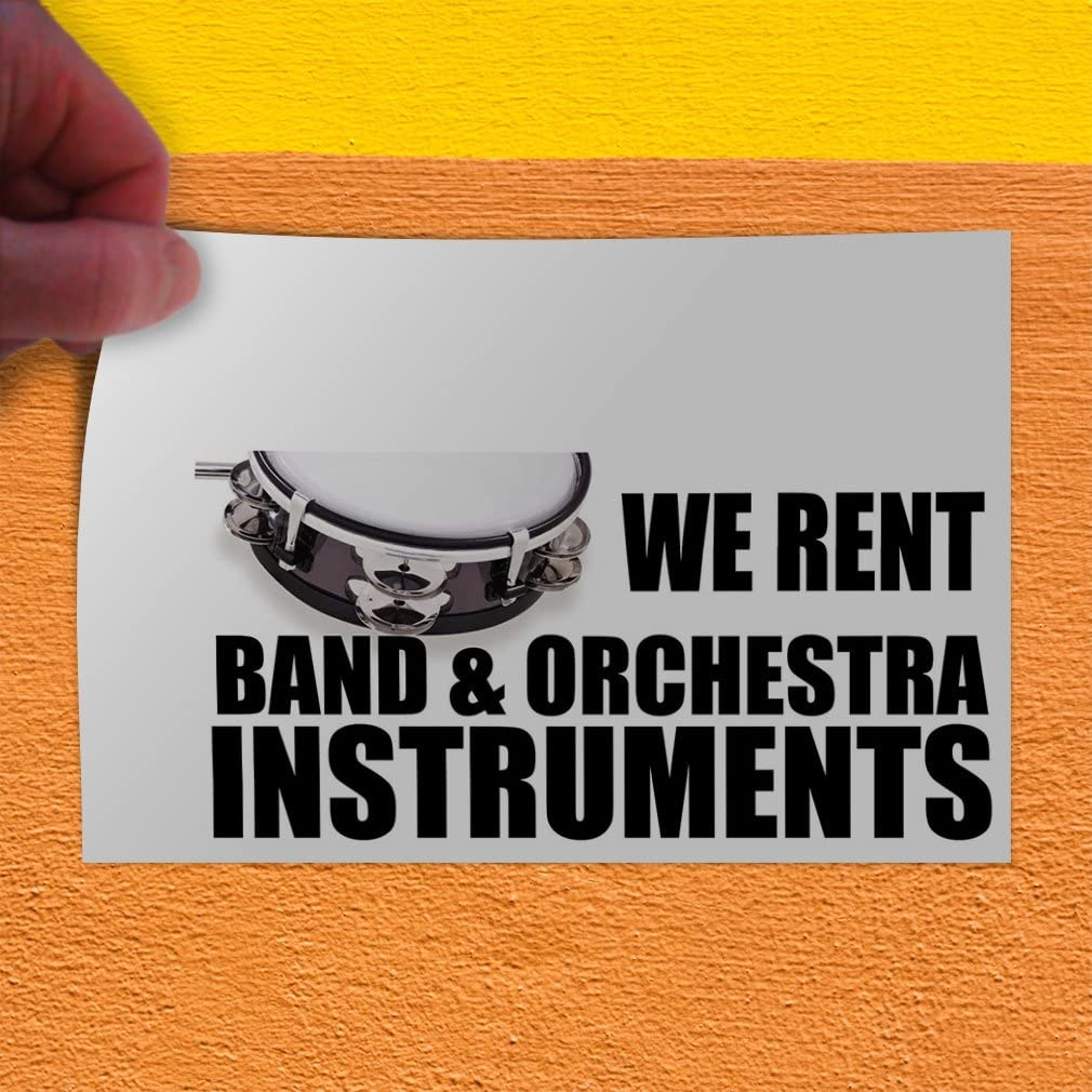 Decal Sticker Multiple Sizes We Sell Band /& Orchestra Instruments Business Music Instrument Outdoor Store Sign White Set of 5 42inx28in