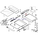 BMW Genuine Panoramic Roof Sunroof Repair Kit For Sunroof Glass Rear X5  3.0i X5 4.4