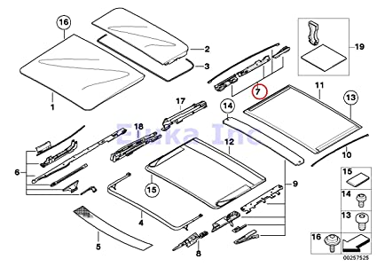BMW Genuine Panoramic Roof Sunroof Repair Kit For Glass Rear X5 30i 44