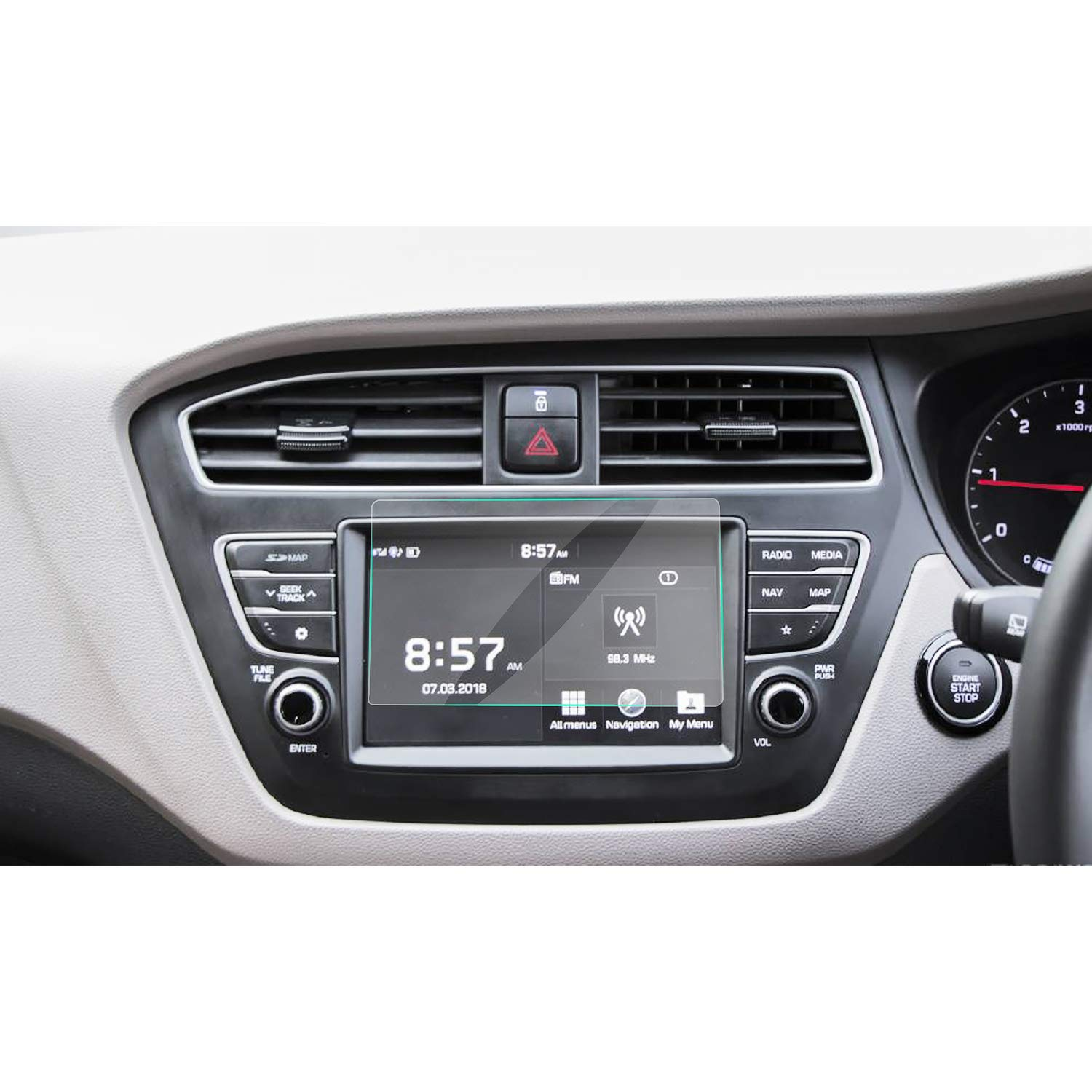 RUIYA 2017 2018 Hyundai Elite i20 AVN System Touch Screen