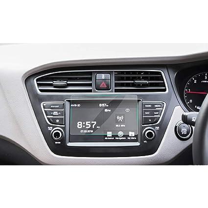 RUIYA 2017 2018 Hyundai Elite i20 AVN System Touch Screen Car Display  Navigation Screen Protector, HD Clear Tempered Glass Car in-Dash Screen