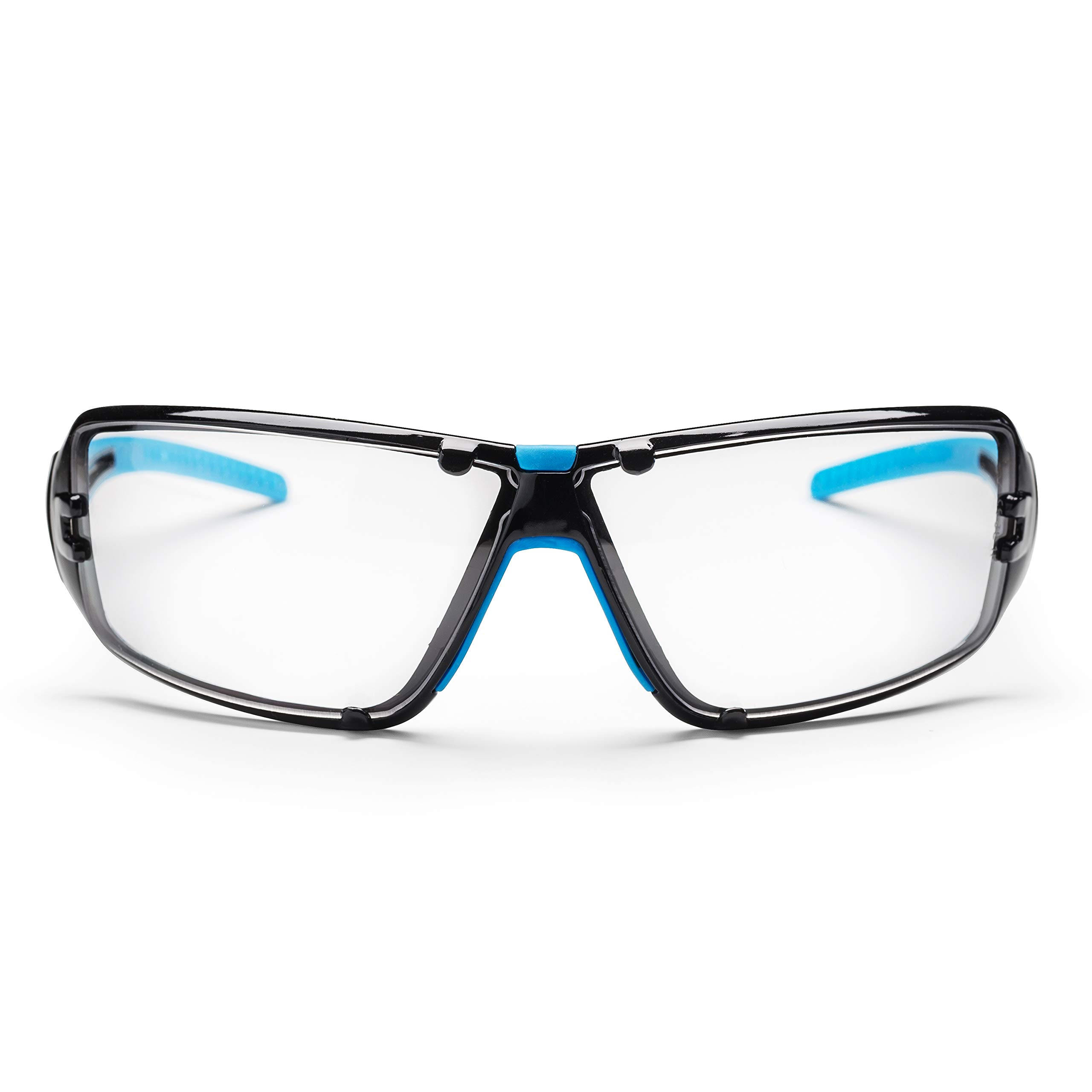 SolidWork professional safety glasses with integrated side protection - eye protection with clear, fog-free, scratch-resistant and UV protective coated lenses - Spectacles incl. storage bag by SolidWork