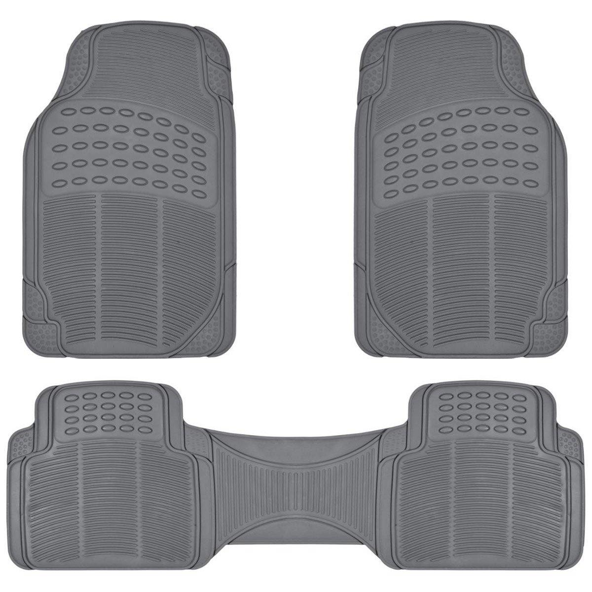 Rubber floor mats minivan - Amazon Com Proliner Gray All Weather Rubber Auto Floor Mats Liner Heavy Duty 3pc Set Automotive