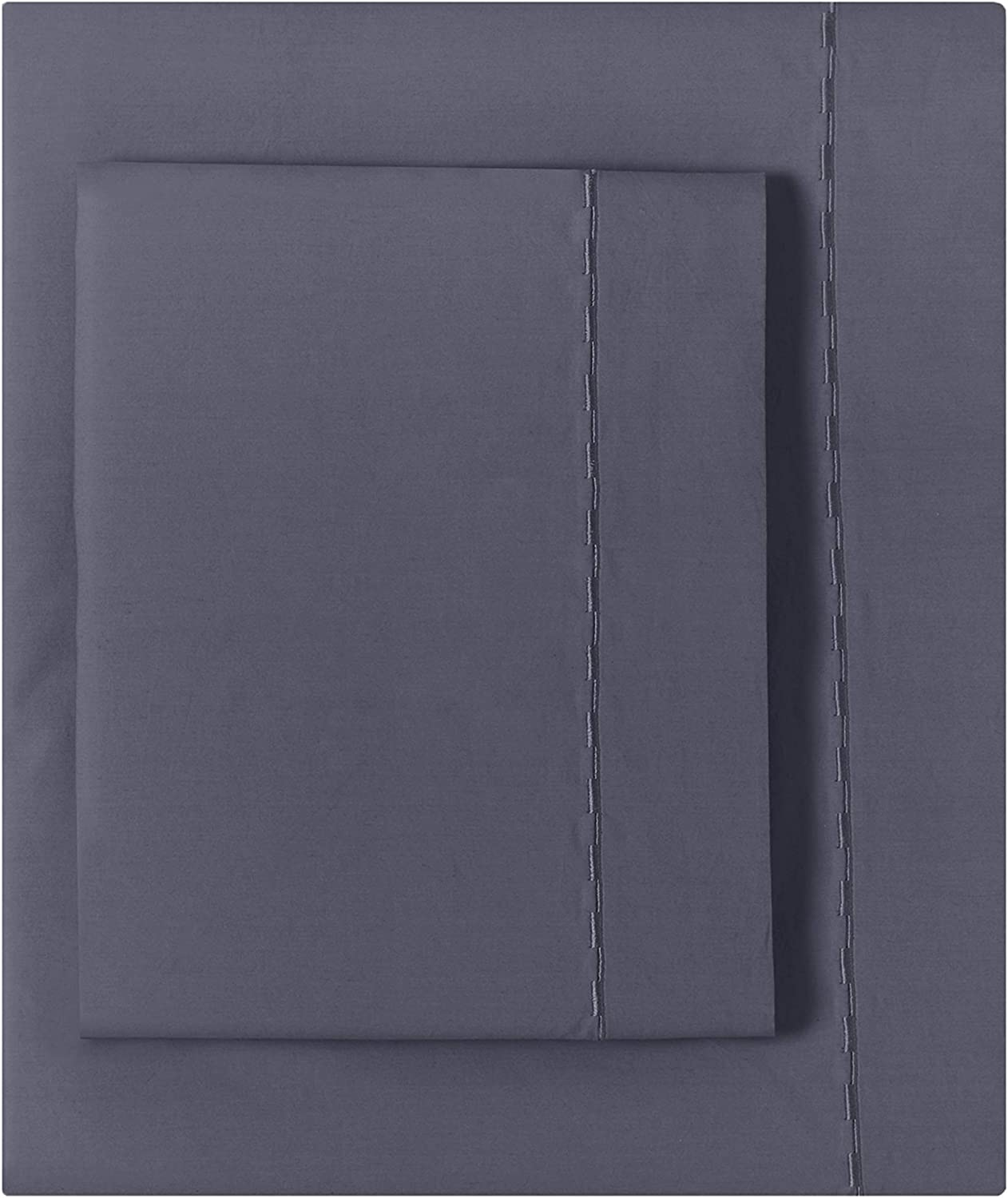 Splendid Home Washed Percale Sheet Set, Queen, Smoky Blue