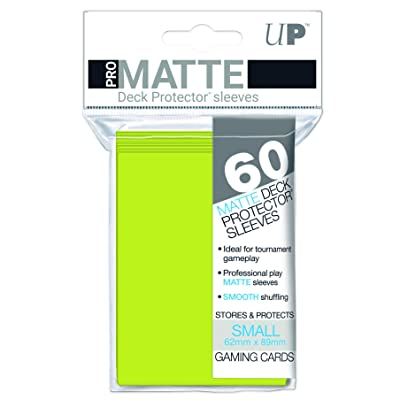 Ultra Pro PRO-Matte Deck Protector sleeves for Magic, Pokemon and Dragon Ball Super - Bright Yellow (50 ct.): Toys & Games