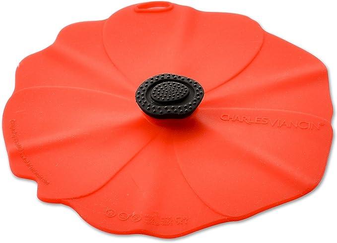 Cambridge COMBO-3809 Reusable Poppy Flowers Travel Mug Silicone lid Set of 2
