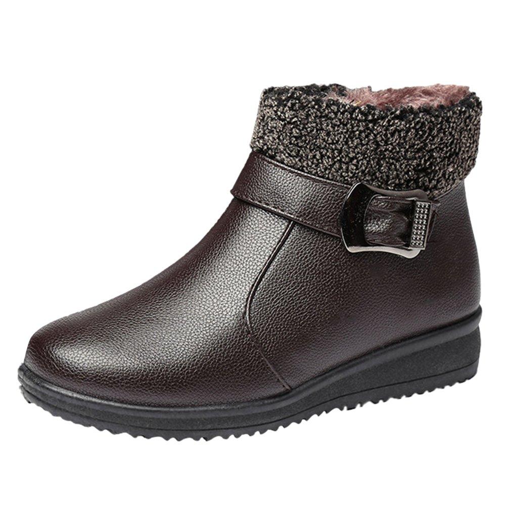 CHENGYANG Femme Chaussures Plates B0000AFSW4 de Neige Bottes Impermeables Hiver Bottines Chaussures Chaudes Boots Plates Jaune 567d74a - conorscully.space