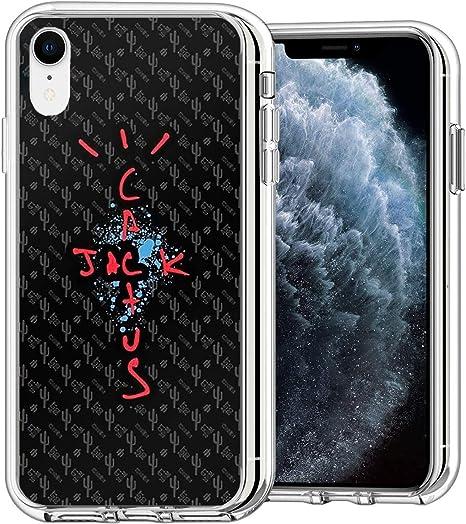 Yahrshee Custodia per iPhone XR, Travis Scott - Cactus Jack Crystal Clear [Anti-Giallo] Ultra Magro Morbido TPU Protettivo, Scratch-Resistente ...