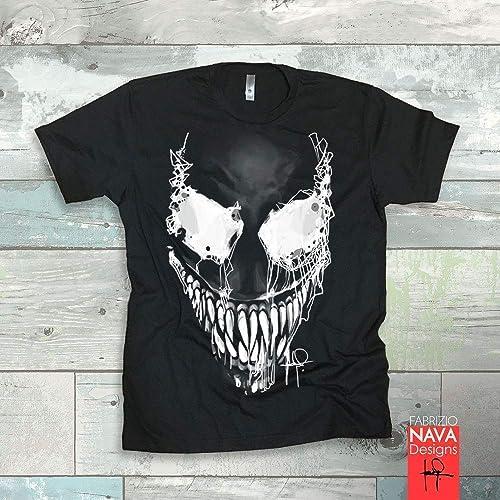 a780def8255a88 Amazon.com: Venom Evil Eyes T-shirt Marvel Spiderman Tank Top Gym Work Out  Tee: Handmade