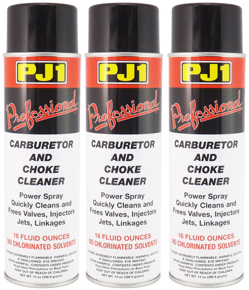 PJ1 40-1-3PK Pro Carb and Choke Cleaner, 48 oz, 3 Pack by PJ1
