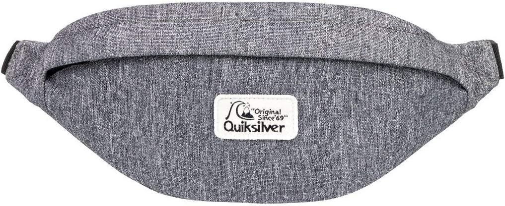 1SZ Light Grey Heather Quiksilver Pubjug-Ri/ñonera para Hombre Waist Pack