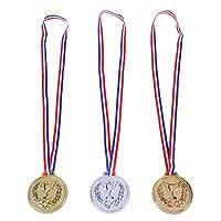 STOBOK Medalla de los niños 12 Piezas medallas de Trofeo de Juguete de educación Infantil