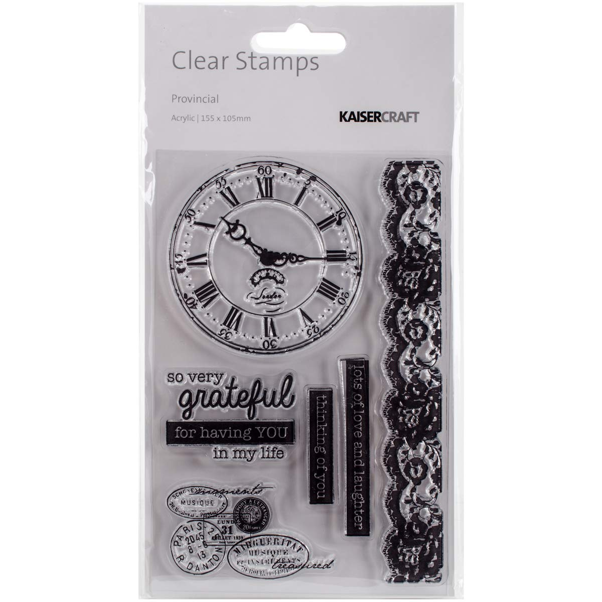 Provincial Collection Clear Acrylic Stamps (6 Pack)
