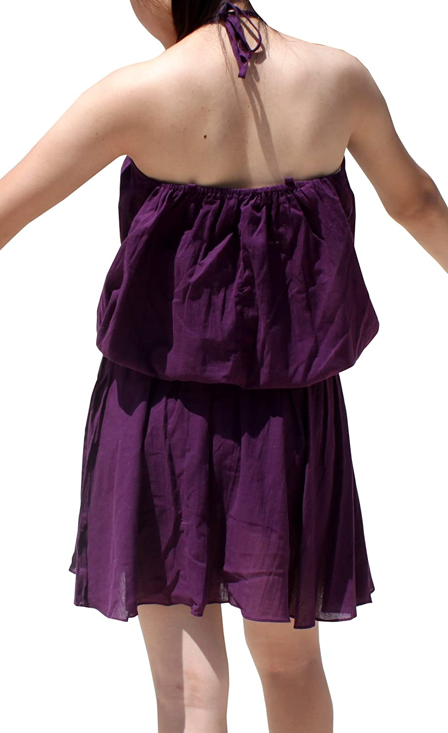 RaanPahMuang Light Flowing Medieval Spaghetti Dress with Elastic Pull in Waist