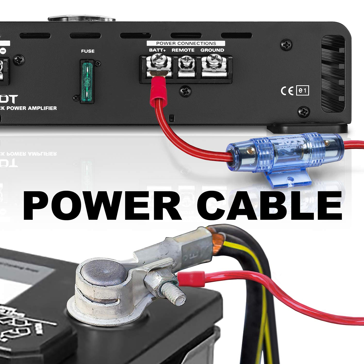 boss audio kit2 8 gauge amplifier installation wiring kit – a car amplifier  wiring kit helps you make connections and brings power to your radio,