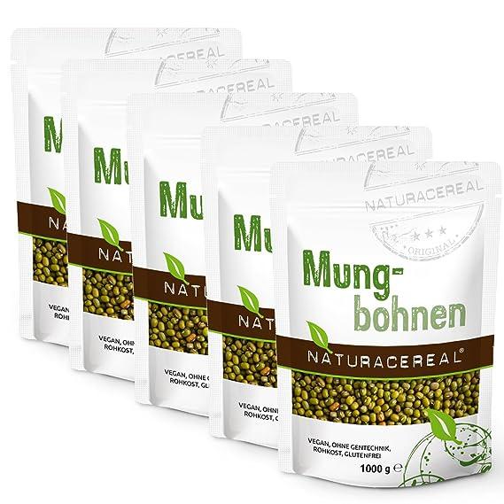 NATURACEREAL - Soja Verde / Grano Mungo - 5 x 1kg: Amazon.es: Alimentación y bebidas