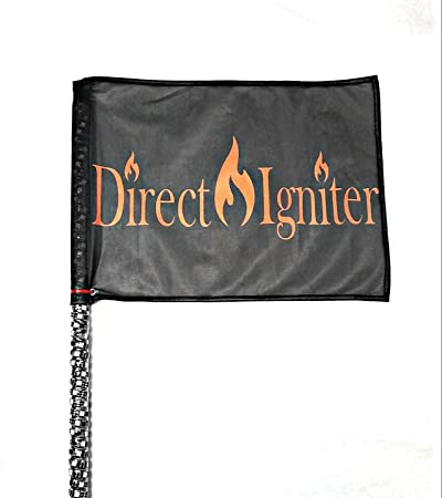 AMERICAN DREAM WRAPPED LED WHIPS-BY DIRECT IGNITER 4/' PAIR 316 MODES USA COMPANY