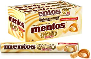 Mentos Choco Roll White, 12 x 38 g