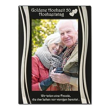 Amazon De Goldene Hochzeit 50 Hochzeitstag Bilderrahmen