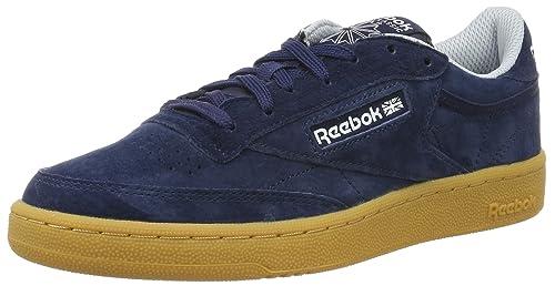 b86cede5f162bd Reebok Men s Club Classic 85 Indoor Low-Top Sneakers  Amazon.co.uk ...