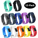 TECKMICO 12PCS Colorful Bands For Garmin Vivofit 3,Garmin Vivofit JR NO Tracker