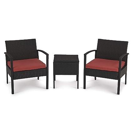 Surprising Amazon Com Amposei 3 Pieces Outdoor Patio Furniture Set Download Free Architecture Designs Sospemadebymaigaardcom