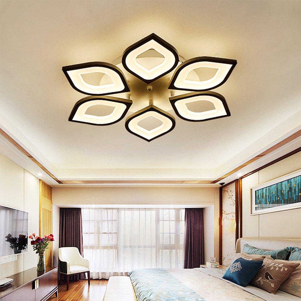 QLIGHA Plafoniere Moderno LED Lampada da Soffitto dimmerabile con Telecomando Acrilico Cucina Camera da Letto Illuminazioni lampadario,12 /_Heads 6+6