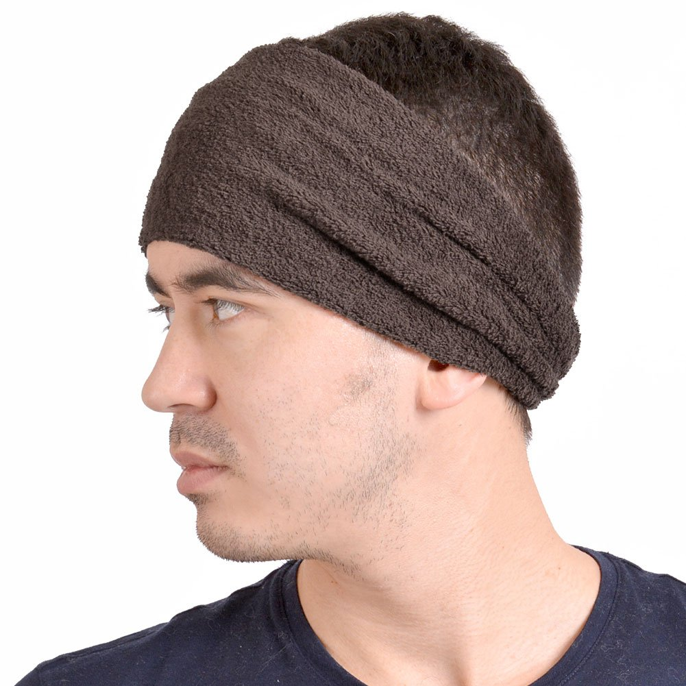 Casualbox mens Made in Japan Moisture Wicking Elastic Headband Sweat Sports Brown 4589777961012