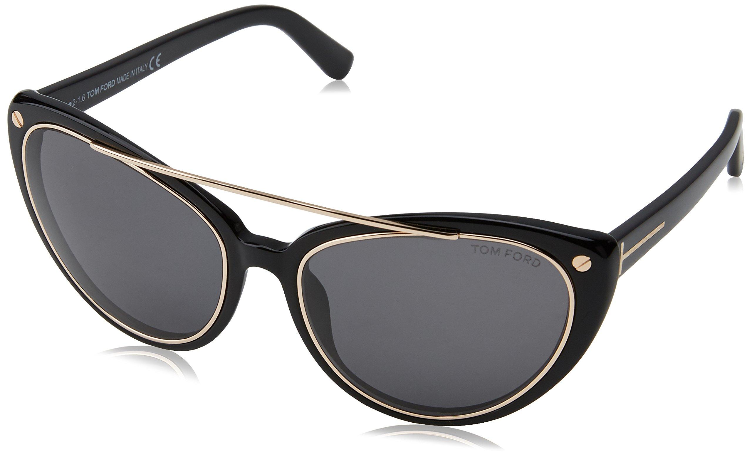 ویکالا · خرید عینک آفتابی تام فورد زنان Ft0384، سیاه، 58 اصل اورجینال · خرید از آمازون · Tom Ford Women's Sunglasses Ft0384, Black, 58 wekala · ویکالا