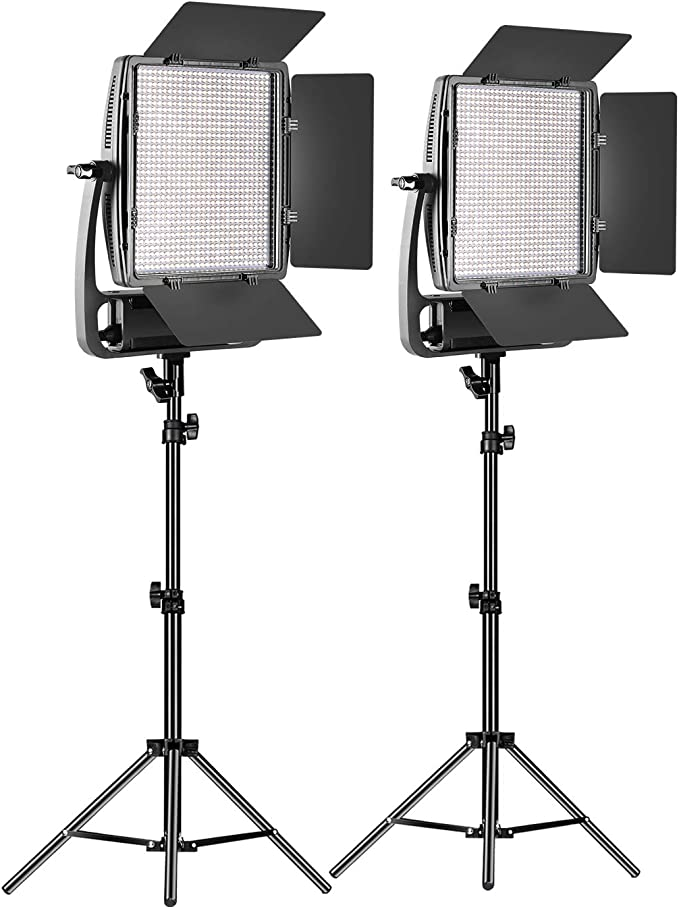 GVM Dimmable Bi-Color 900D LED Video Light and Stand Lighting Kit