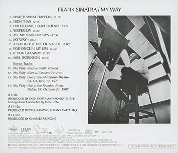 フランク シナトラ マイ ウェイ 歌詞 【和訳/歌詞】My Way マイ・ウェイ