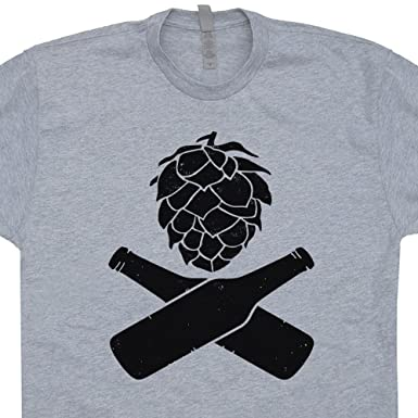 Amazon.com: Shirtmandude T-Shirts Hops Beer T Shirt Craft Beer ...