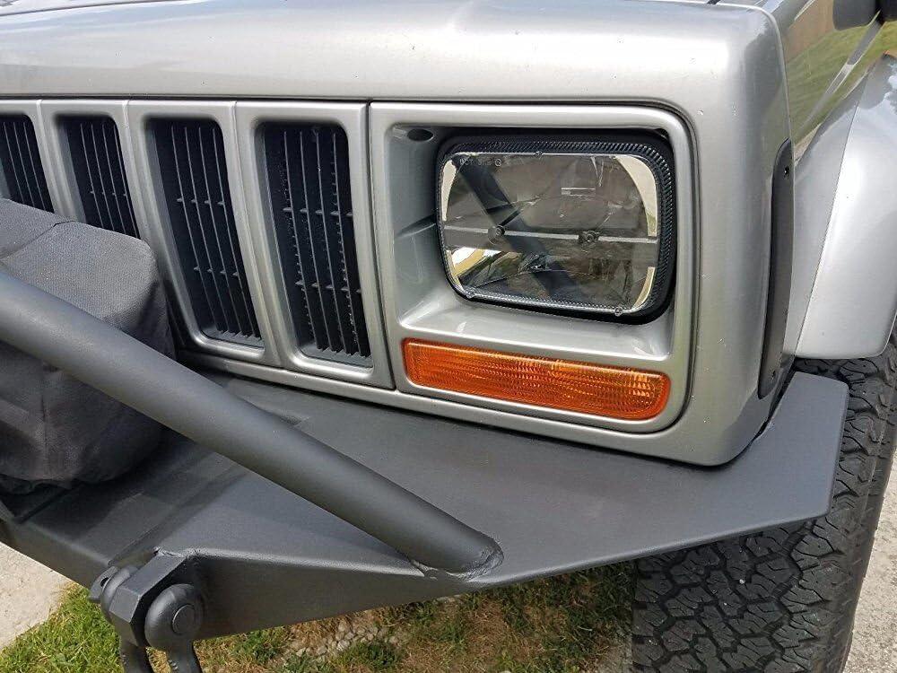 Esyauto 2 pz pollici LED faro anteriore Rettangolare 5x7  7x6  40W abbagliante//anabbagliante per Jeep Wrangler YJ Cherokee XJ H6014 H6052 H6054 6054